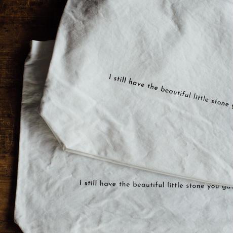 再販【message tote bag】Be a part of this beautiful journey. (white)