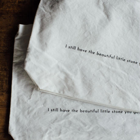 【message tote bag】I still have the beautiful little stone you gave me. (black)ポケットなし