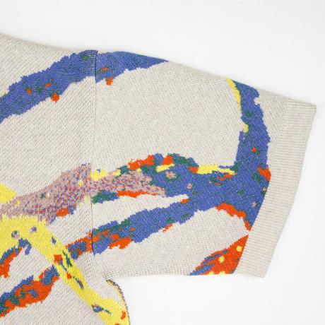 Recycle and Organic yarn Jacquard knit One Piece/ リサイクル&オーガニックコットンジャガードニットワンピース