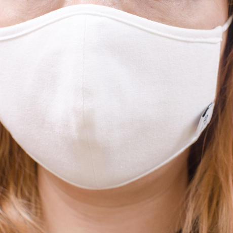 Cotton Mask / コットンマスク (紐色ライトグレー)