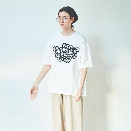 "Print T-Shirt ""Ring""/ プリントTシャツ""Ring"""