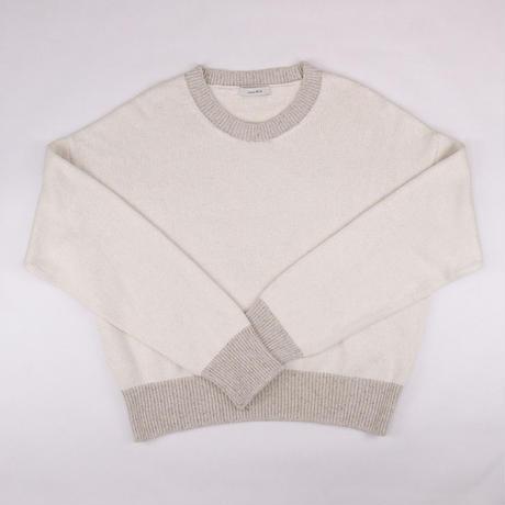 Raw Silk Crew Neck Sweater / ローシルククルーネックセーター