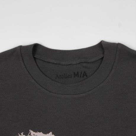 """Organic Cotton Print Long T-Shirt """"Re"""" / オーガニックコットンプリントロングTシャツ""""リ"""""""