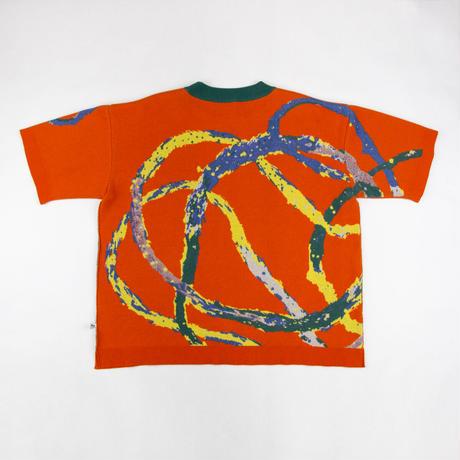 Recycle and Organic yarn Jacquard knit / リサイクル&オーガニックコットンジャガードニット
