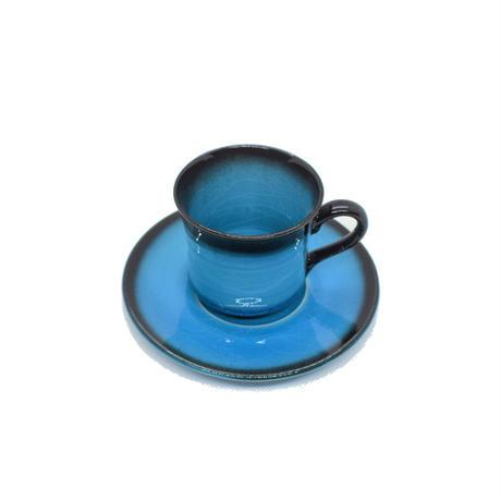 青彩 コーヒー碗皿