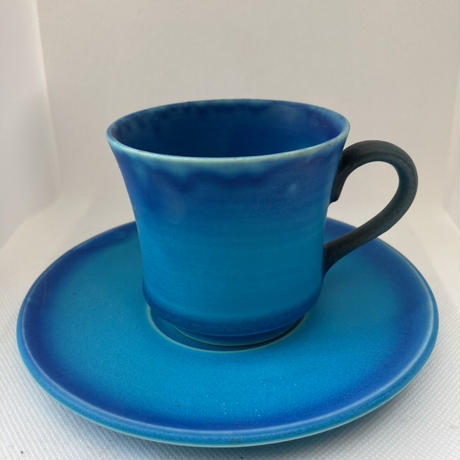 コーヒーカップ 青釉