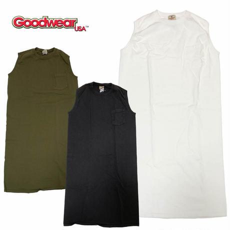 (グッドウェア)Goodwear SLEEVELESS POCKET ONEPIECE LONG