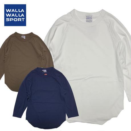 (ワラワラスポーツ)WALLA WALLA SPORT 3/4 BASEBALL TEE SOLID