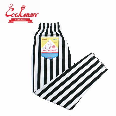 (クックマン)Cookman Chef Pants 「Wide stripe」 Black