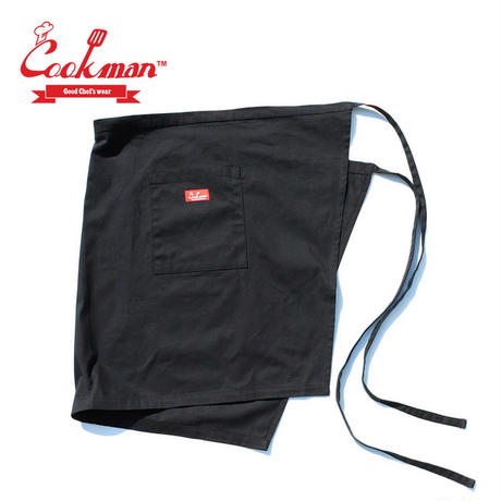 (クックマン)Cookman Waist Apron「Black」