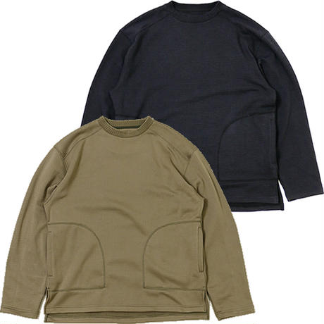 (バーラップアウトフィッター)BURLAP OUTFITTER GRID FLEECE CREW TOP