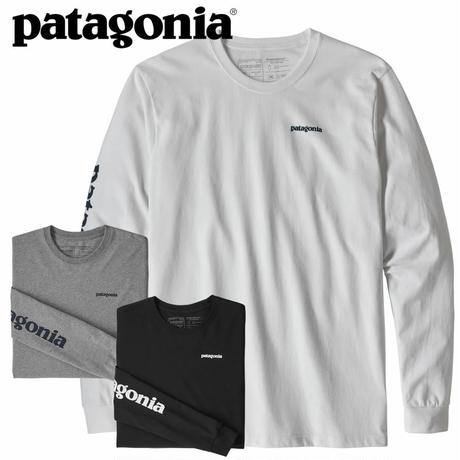 (パタゴニア)Patagonia Mens Long Sleeved Text Logo Responsibili-Tee