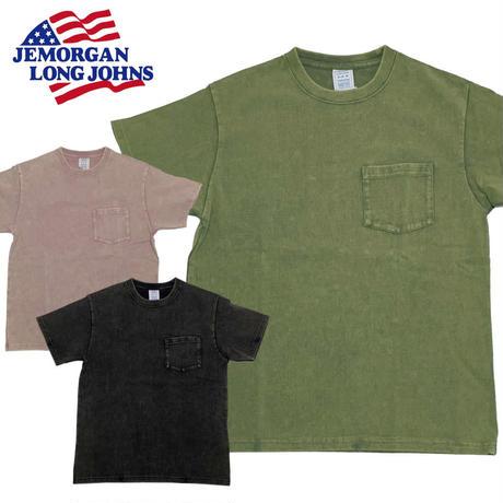 (ジェイイーモーガン)JEMORGAN 度詰天竺スノーウォッシュポケットTシャツ