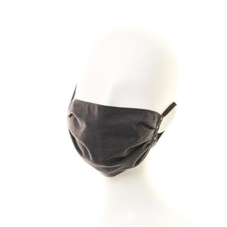 抗ウイルス性不織布内蔵マスク チャコールグレー/ユニセックス #74B