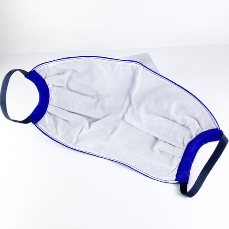 抗ウイルス性不織布内蔵マスク ブルー星柄/ユニセックス #77A