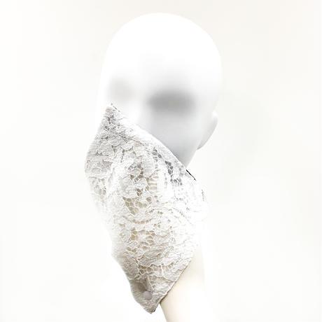 抗ウイルス性不織布内蔵ハンディーマスク 白レース #1852A