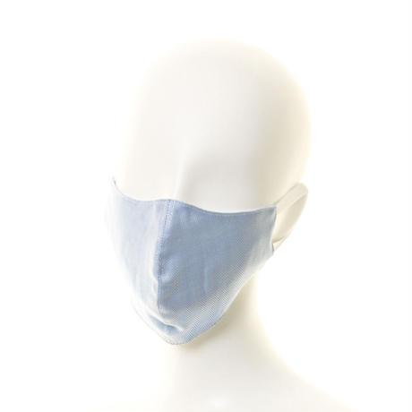 抗ウイルス性不織布内蔵マスク ブルーヘリンボーン柄/ユニセックス #79B