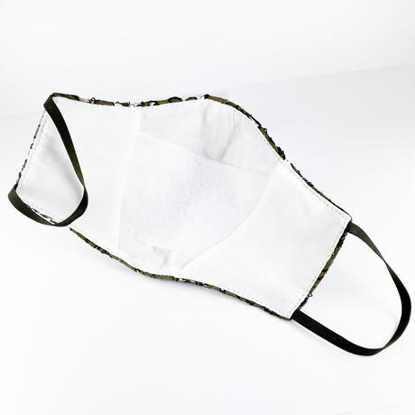 抗ウイルス性不織布内蔵マスク カーキレース #72G
