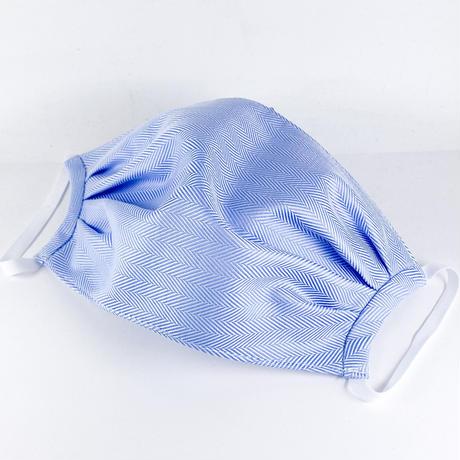 抗ウイルス性不織布内蔵 ブルーヘリンボーン柄タック/ユニセックス #1855B