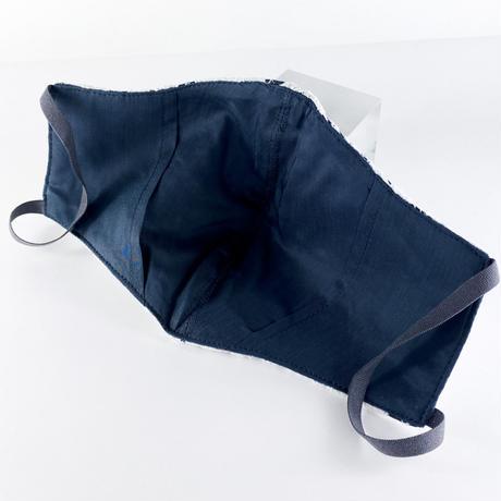 抗ウイルス性不織布内蔵マスク 白レースxグレー #1864A