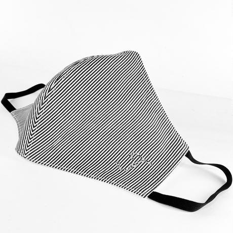 抗ウイルス性不織布内蔵 ラインストーンイニシャルマスク白黒/ユニセックス #1867