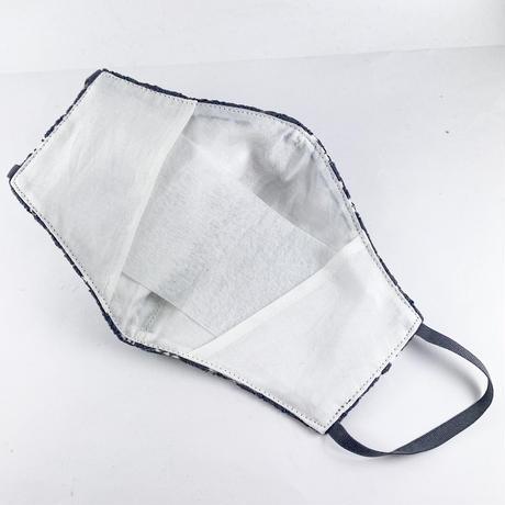 抗ウイルス性不織布内蔵マスク チャコールグレーレース #72A