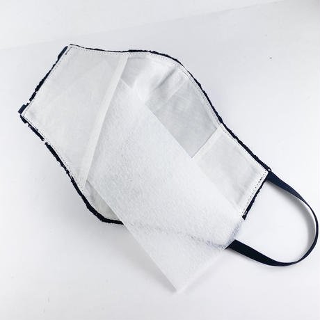 抗ウイルス性不織布内蔵マスク 黒レース #72C