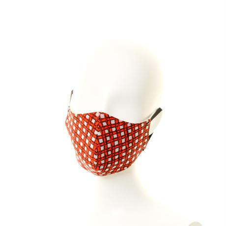 抗ウイルスフィルター付マスク 黒xオレンジ/ラインストーン #76A