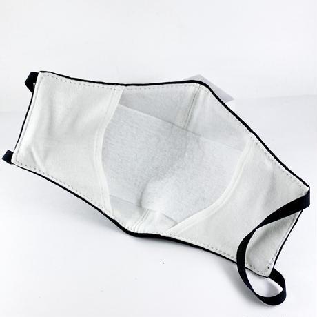 抗ウイルス性不織布内蔵マスク保湿タイプ 黒星柄ラインストーン付き/ユニセックス #1856B