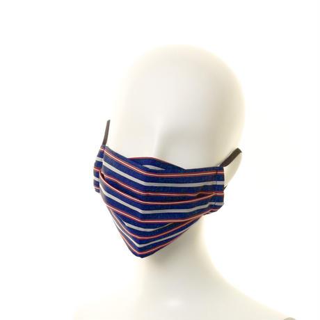 抗ウイルス性不織布内蔵マスク 紺x赤/ユニセックス #1863A