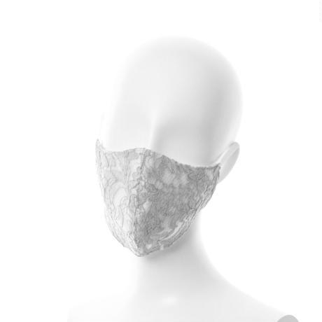 抗ウイルス性不織布内蔵マスク ライトグレーレース #72H