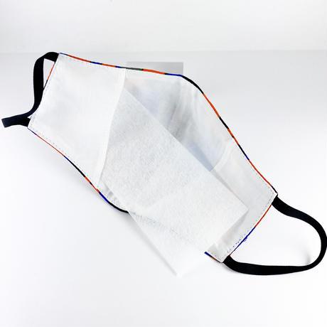 抗ウイルス性不織布内蔵マスク オレンジxブルー/ユニセックス #75A