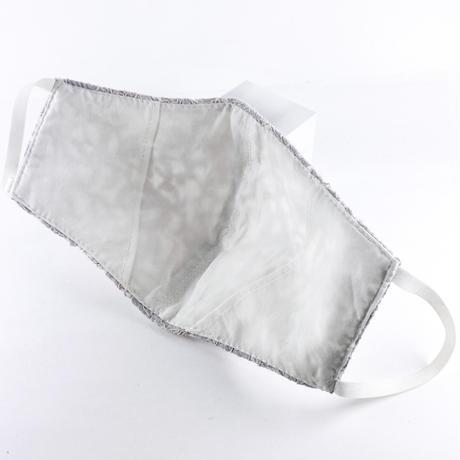 抗ウイルス性不織布内蔵マスク ライトグレーレース(新色) #72I
