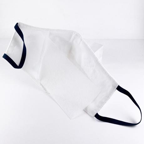 抗ウイルス性不織布内蔵マスク コットンローンエンブロイダリー白 #1865A