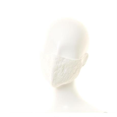 抗ウイルス性不織布内蔵マスク 白レース*白 #72D