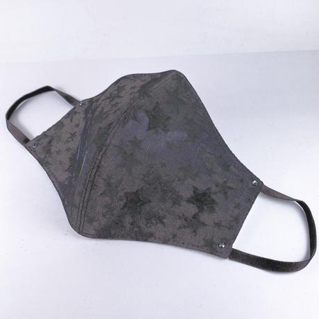 抗ウイルス性不織布内蔵マスク保湿タイプ グレー星柄ラインストーン付き/ユニセックス #1856A