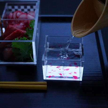 お花見OJUset  OJU(白set&透明)1合SAKURA2個 0.3合桜・水引