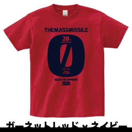 【在庫あるだけ!】ザ・マスミサイル×MALFOY THE COPPERPOT 20周年記念Tシャツ