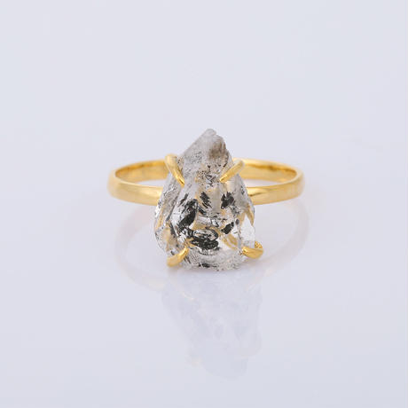 large herkimer diamondリング