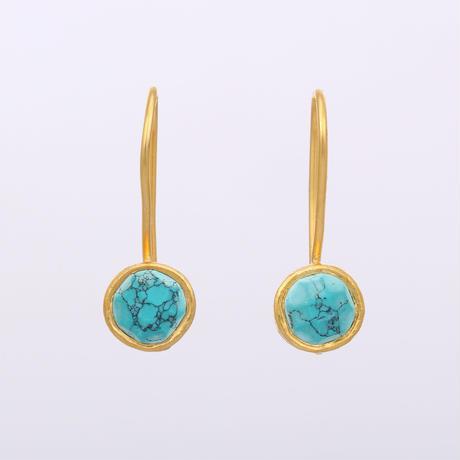small turquoise dangleピアス