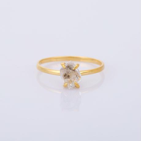 small herkimer diamondリング