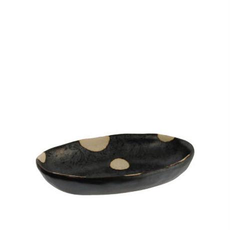 4-119 花見窓 楕円小鉢 黒