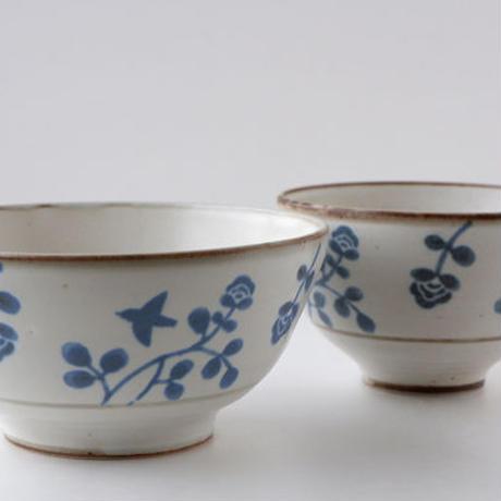 4-669 花と鳥 ボウルL(麺鉢兼用)