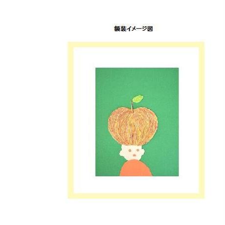 【貼り絵】apple head (edition1)