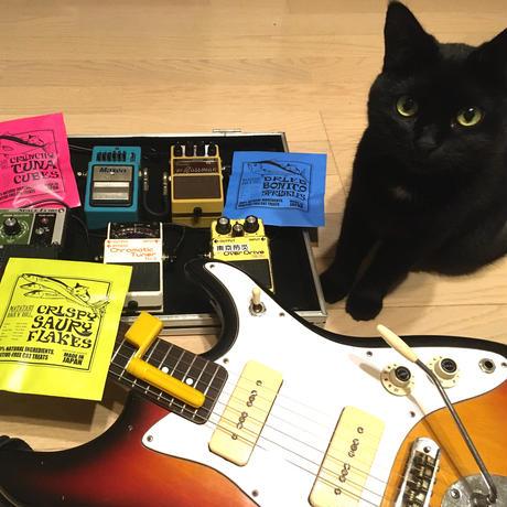 またたびロックンロール ギターアンプ(オーカー)、トリーツ3種パックとお好きなベースのセット