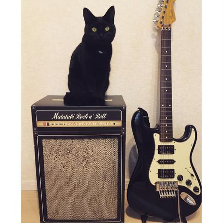 またたびロックンロール ギターアンプ ブラック(爪とぎ)