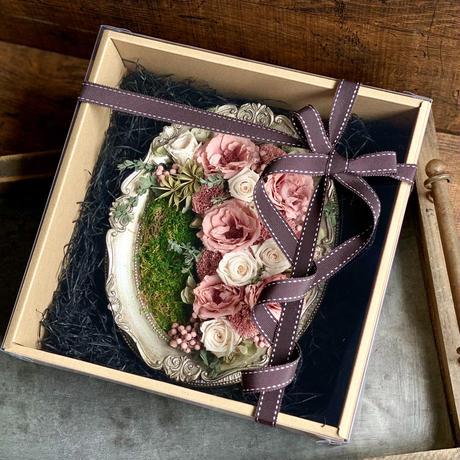 2021年季刊Best Flower Arrangement 夏号No.77 掲載*Rose mauve アンティークフォトフレーム