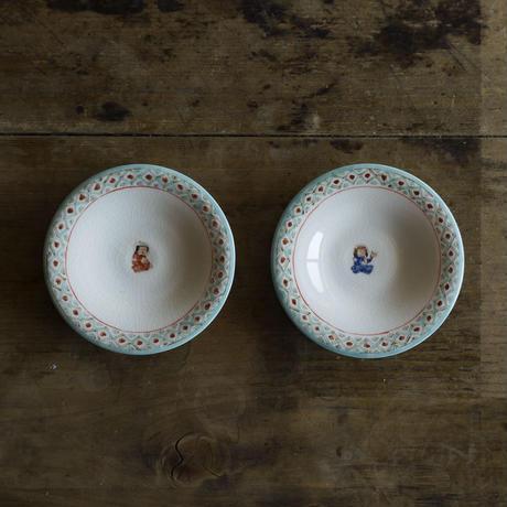升たか 色絵ペルシャ紋豆皿