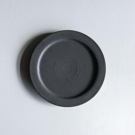 船串篤司 鉄釉リム皿24φ