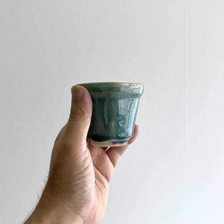 林拓児 緑釉六角湯呑(B)